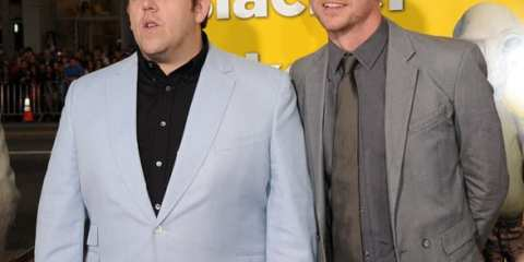 "Nick Frost and Simon Pegg attend the ""Paul"" Los Angeles Premiere at Grauman's Chinese Theatre on March 14 in Hollywood (WireImage)"