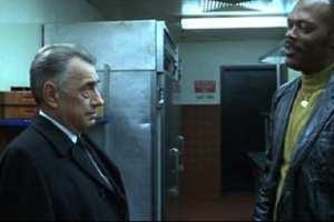 Jimmy (Samuel L. Jackson) knows Sydney's (Philip Baker Hall) deepest secret in Hard Eight