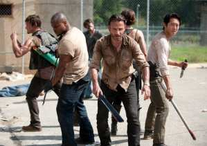 The Walking Dead returns for season three with plenty of walker carnage as the gang tries to take hold of a prison
