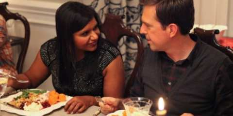 Ed Helms returns as Dennis in The Mindy Project's Thanksgiving episode.