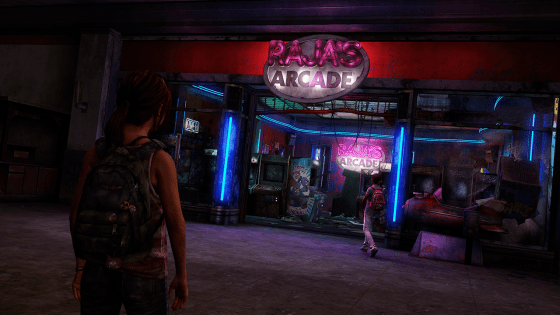 Ellie and Riley at Rajas Arcade