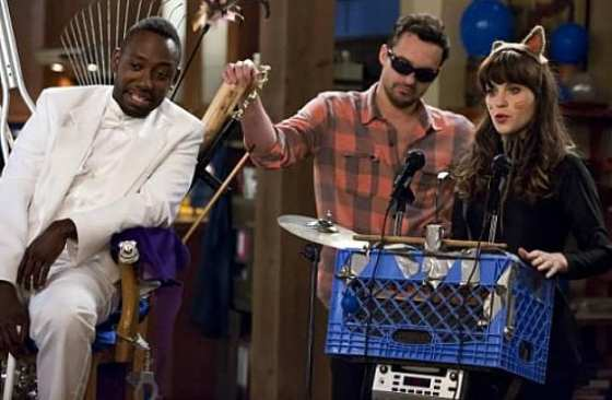 The gang throws a party for Winston (Lamorne Morris).