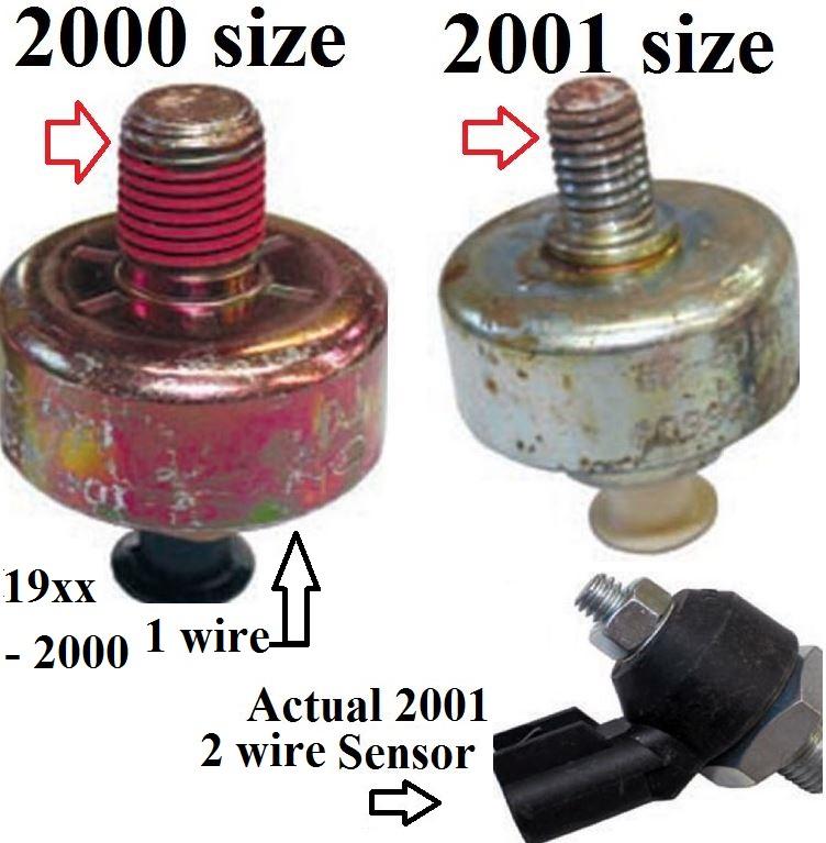 2000 Block vs 2001 Block - Knock Sensor - Blazer Forum - Chevy