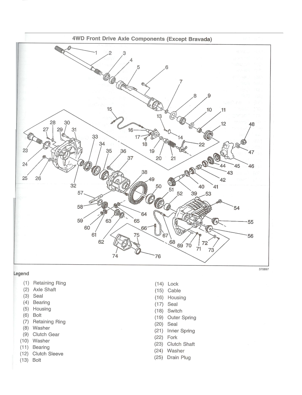 trailblazer differential diagram