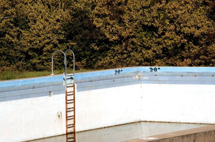 Disused swimming pool in Kyneton, central Victoria, Australia.