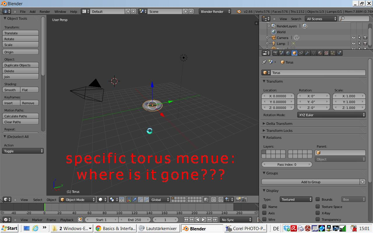 Blender Basic Modifying Basic And Specific Object Properties Later Possible