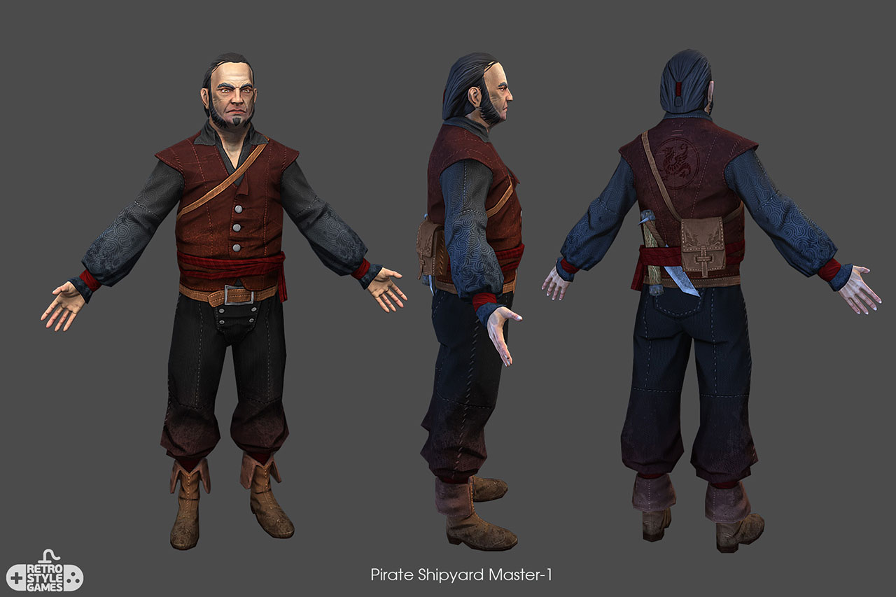 Free 3d Models Free 3d Model Of Pirate Character - Shipyard Master