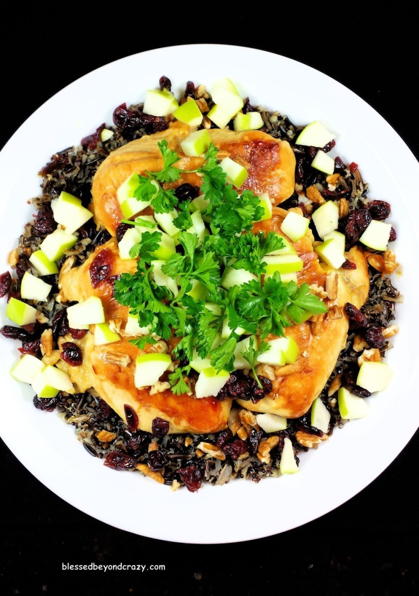 Wild Rice Quinoa Chicken with Citrus Vinaigrette (GF)