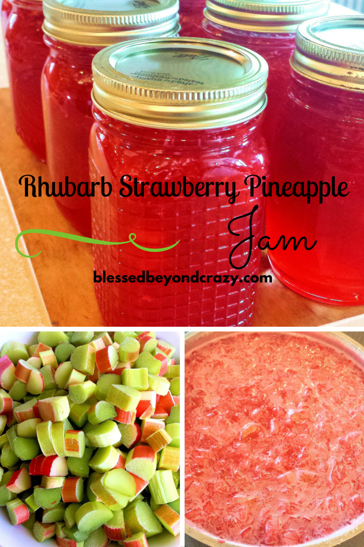 Homemade Rhubarb Strawberry Pineapple Jam