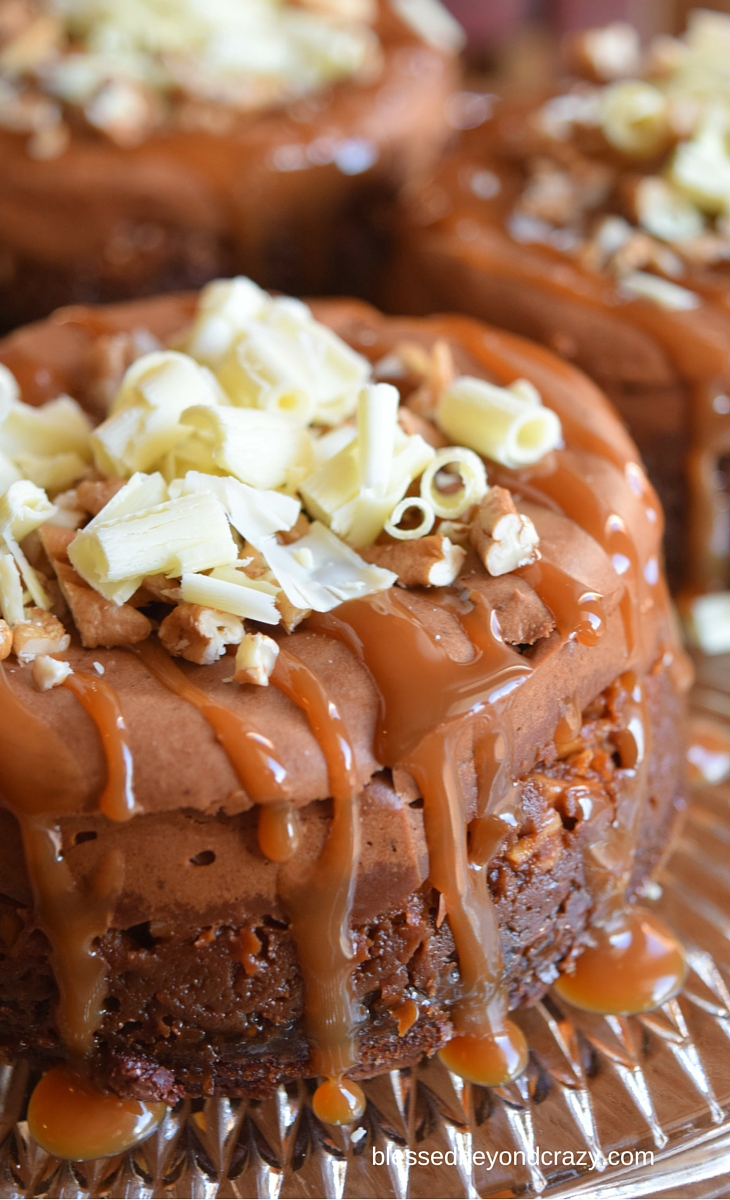 Since these mini caramel pecan chocolate cheesecakes are so decadent ...
