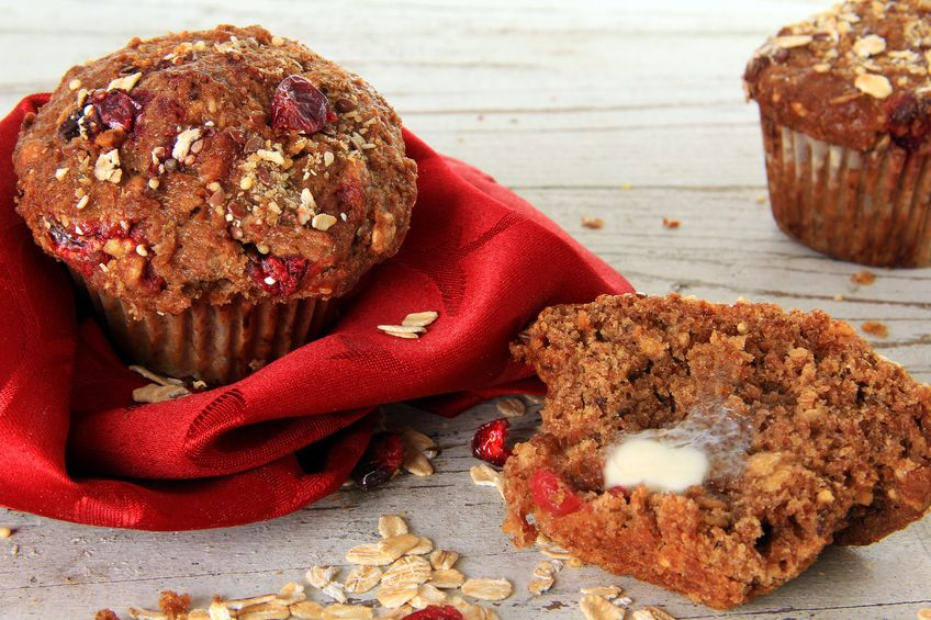 18427400 - cranberry bran muffin, also available in vertical