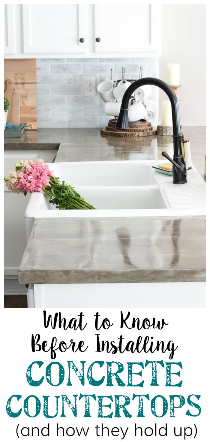 Making Your Own Concrete Countertop The Good Bad And Ugly Of Concrete Countertops Bless Er House