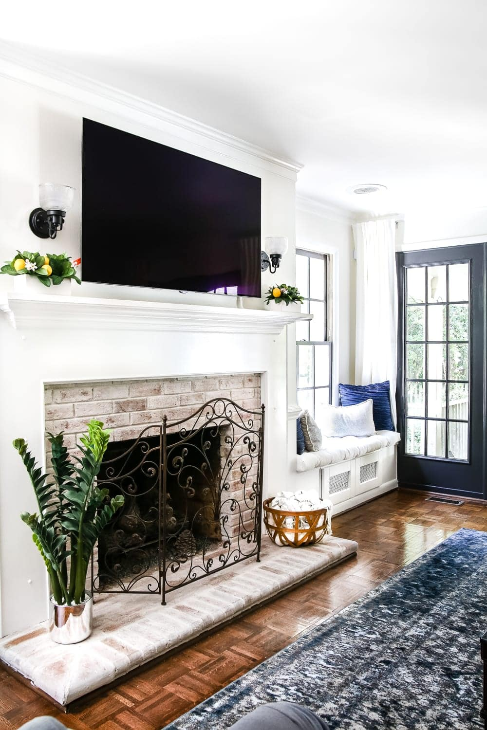 Lime Wash Brick Fireplace Diy Lime Washed Brick Fireplace Bless Er House