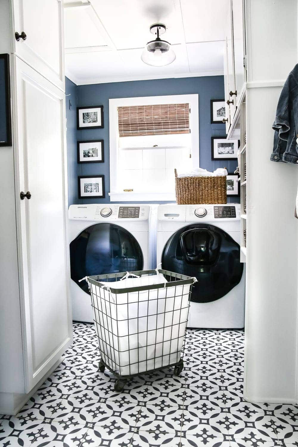 Pictures Of Laundry Rooms High Contrast Laundry Room Makeover Reveal - Bless'er House