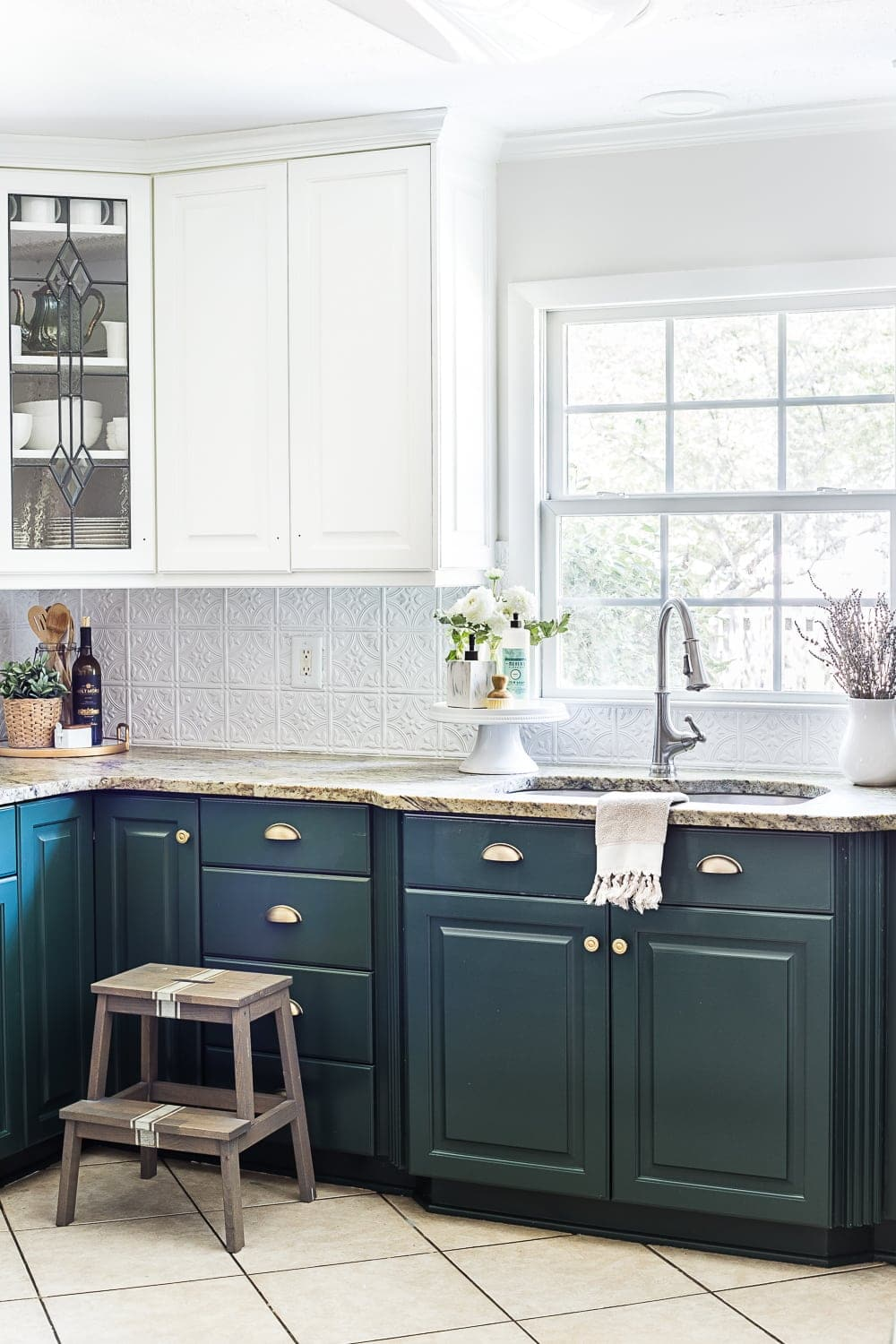 How To Update Kitchen Cabinets Green Kitchen Cabinet Update Bless Er House