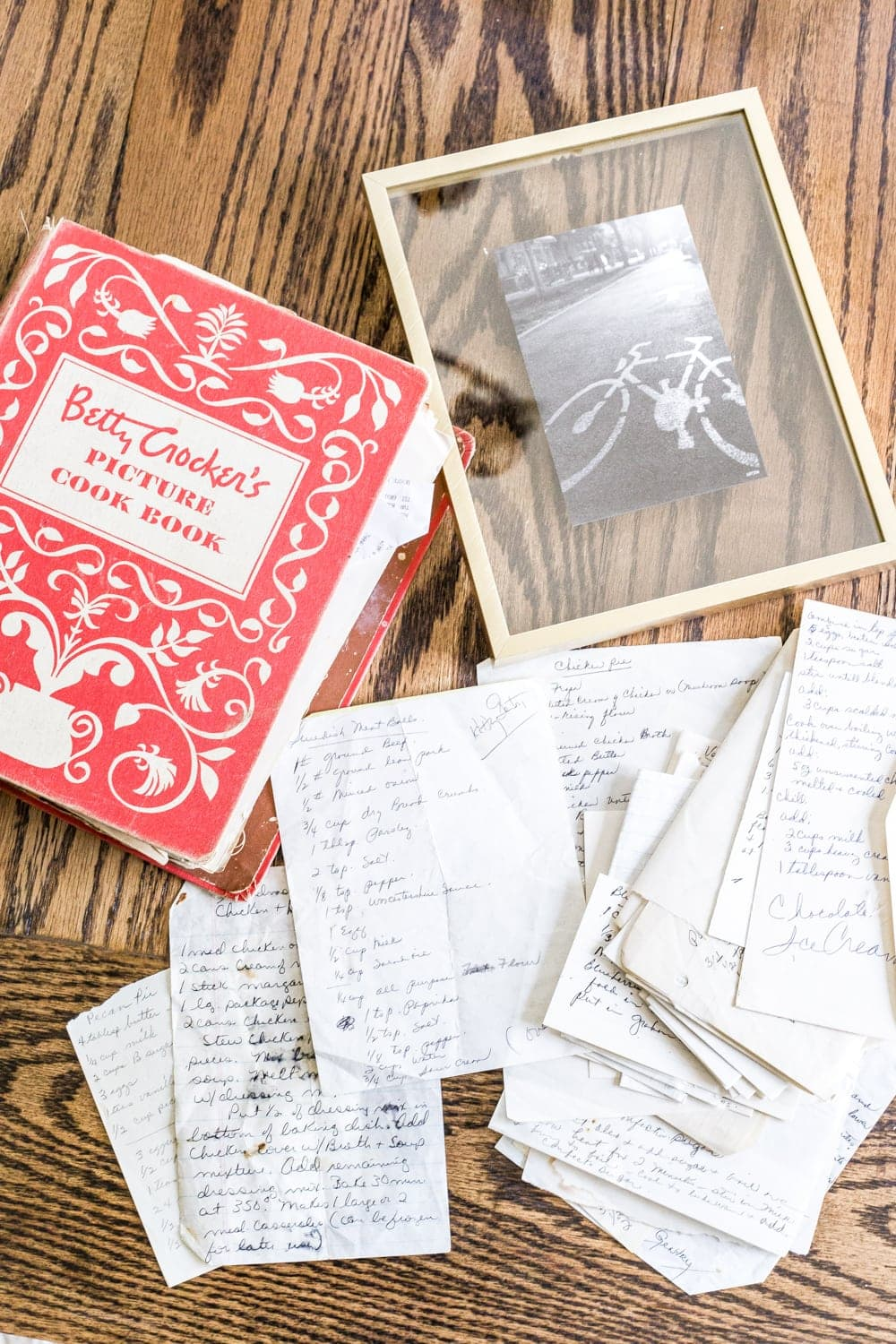 How To Frame Pictures How To Preserve And Frame Handwritten Recipes And Letters Bless