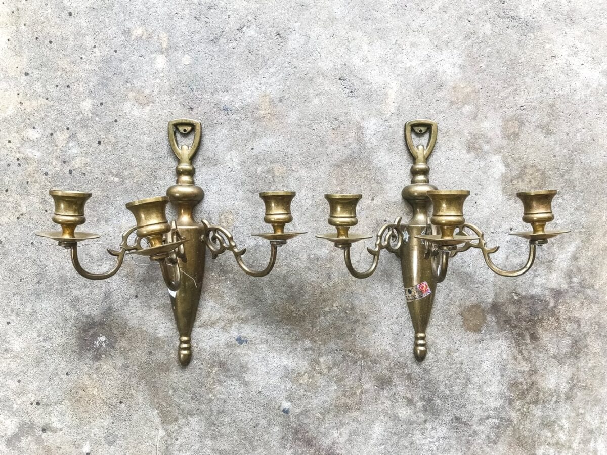 Restoration Hardware Vintage French Farmhouse Sconce Diy French Sconce From 80s Brass Bless Er House