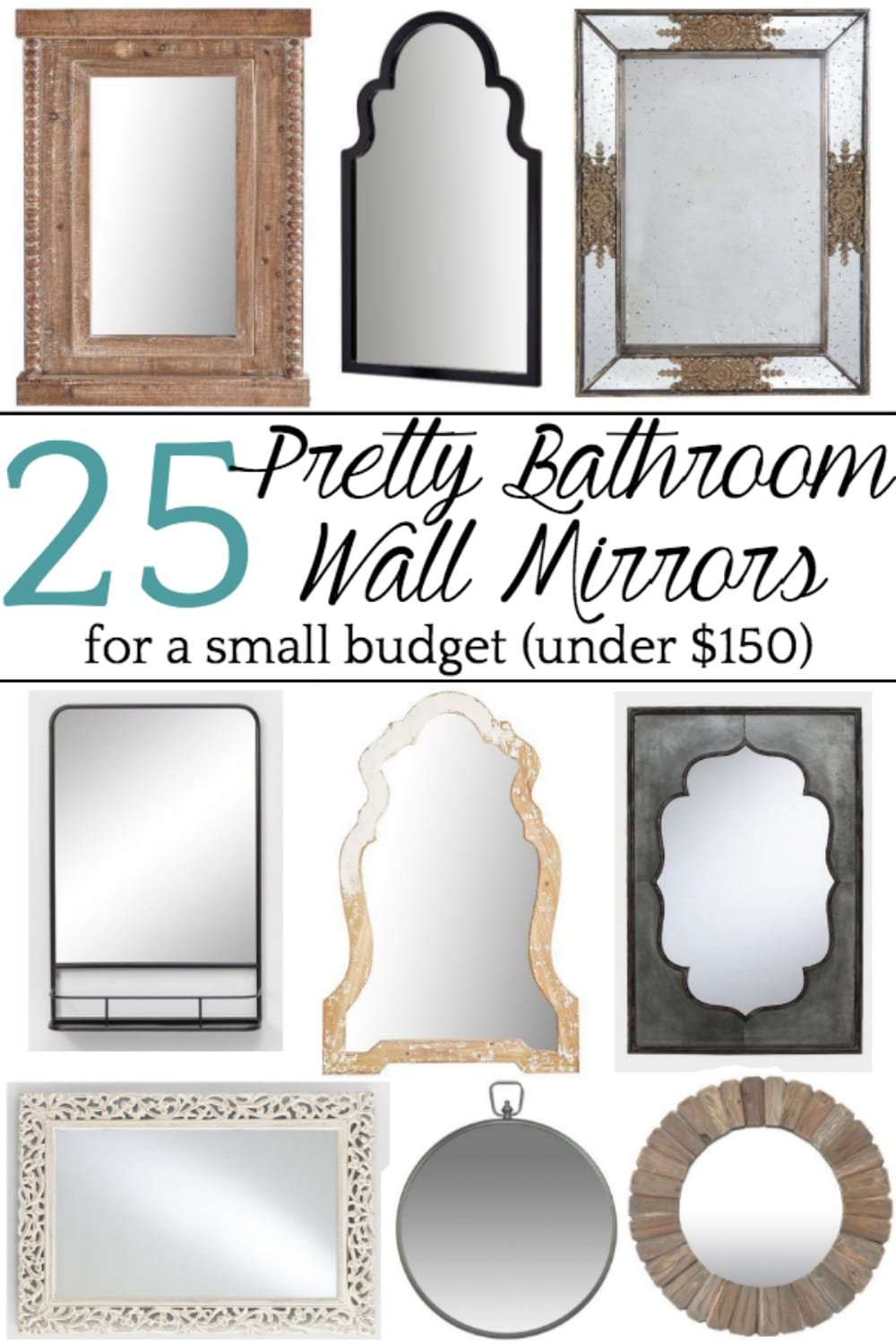 Bathroom With Mirrors Unique Bathroom Mirrors For A Small Budget Bless Er House