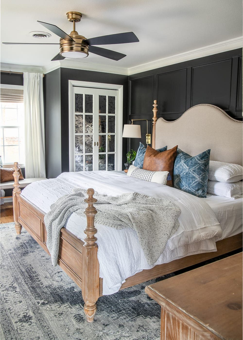 Our Moody Modern Vintage Master Bedroom Reveal Bless Er House