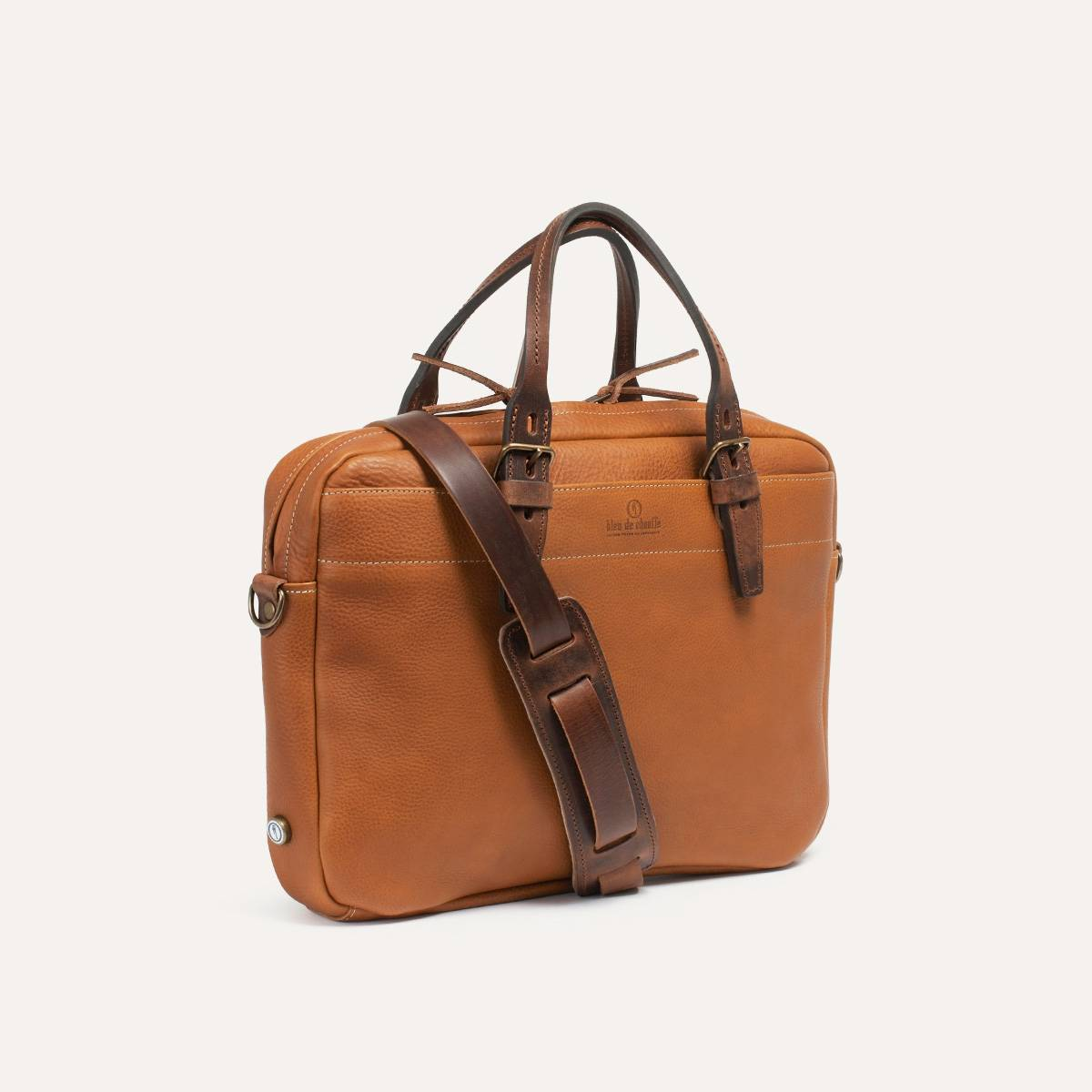 Porte Document Cuir Homme Sac Business Folder Pain Brûlé