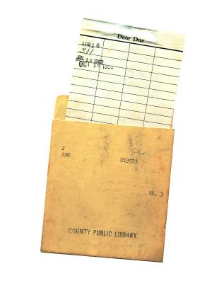 Good old Dippity-do Memory Lane Pinterest Childhood - library card