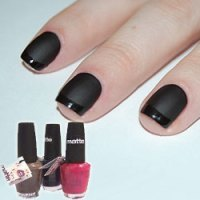 Lincoln Park After Dark Black Matte Nails -- Bit by the Beauty Bug