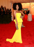 Solange Met Gala in Rachel Roy Gown 2012 Getty Images