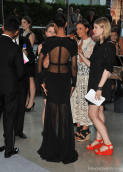 Actress Zoe Saldana attends the 2012 CFDA Fashion Awards at Alice Tully Hall on June 4, 2012 in New York City gown back