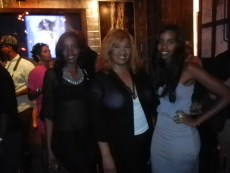 Mataano sisters and Tracey Brown of Blinging Beauty at Destination Iman Launch party September 7, 2012 at the Electric Room in the Dream Hotel NYC