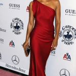 Halle Berry in Red YSL Gown at Carousel of Hope Gala