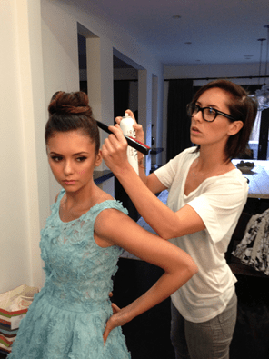 Nina Dobrev Golden Globes Hair by Riawna Capri