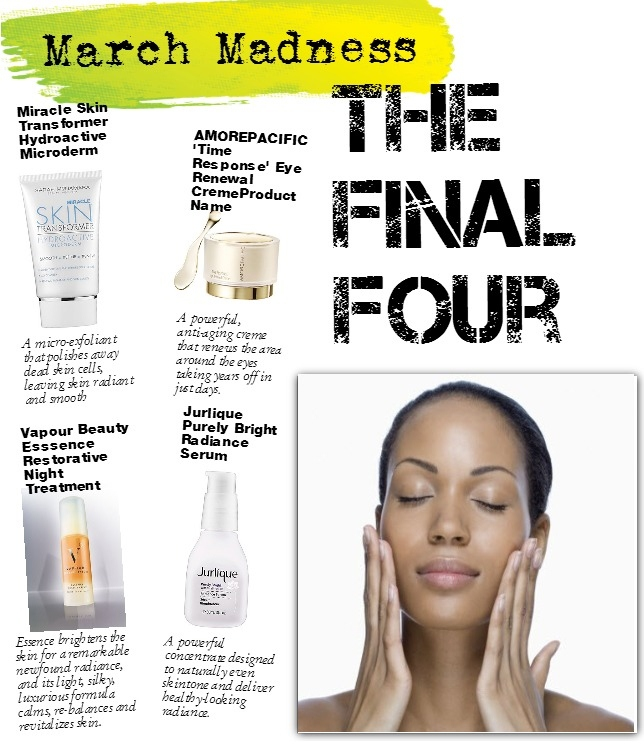 Blinging Beauty March Madness Final Four skin care layout