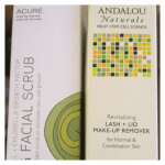 ndalou Naturals Revitalizing Lash & Lid Makeup Remover, Accure Brightening Facial Scrub