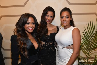 Chirstina Milian, Paula Patton and LaLa Anthony attend the premiere of Fox Searchlight Pictures' 'Baggage Claim'