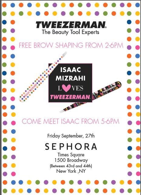 tweezerman Isaac Mizrahi event Sephora Times Square September 27, 2013