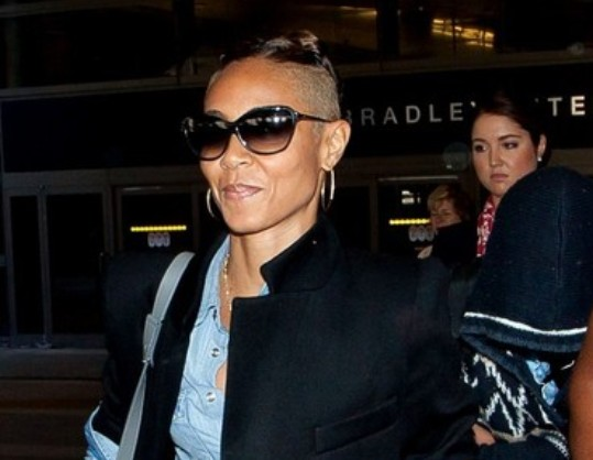 Jada Pinkett Smith buzz hair cut october 2013 courtesy of zimbio.com