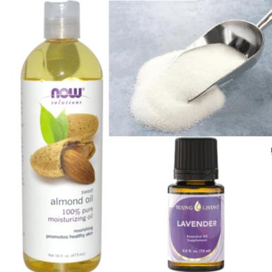 almond sugar scrub