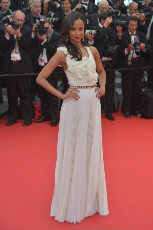 Zoe Saldana wearing Victoria Beckham Cannes 2014