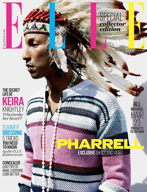 Pharell Williams Elle UK july 2014 cover
