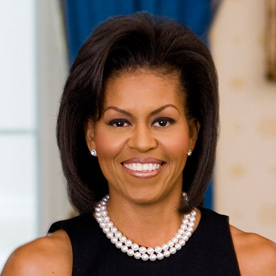 Michelle Obama Official portrait hair