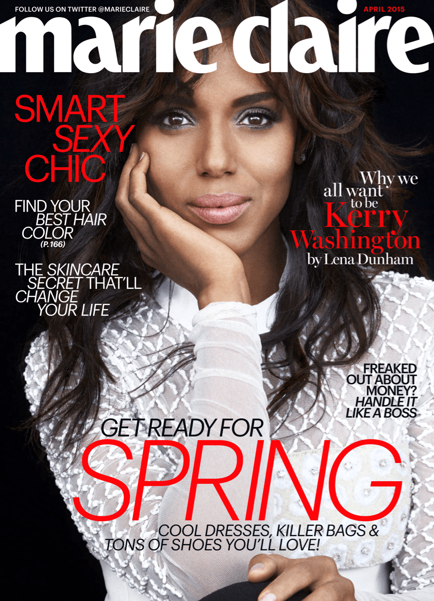 KERRY WASHINGTON MARIE CLARE cover april 2015