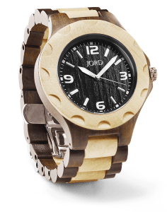 JORD Sully Watch Black and Maple