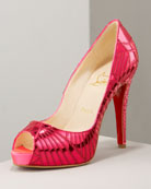 Christian Louboutin Pink Mirrored Shoes $1295