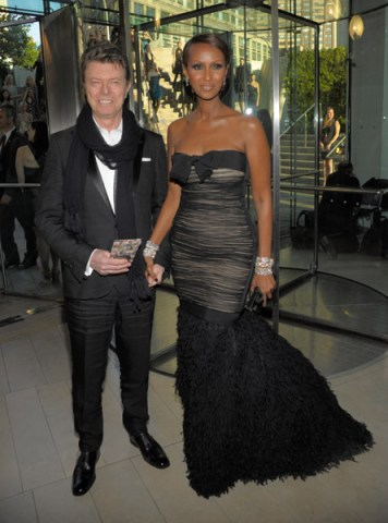 David Bowie and Iman 2010 CFDA