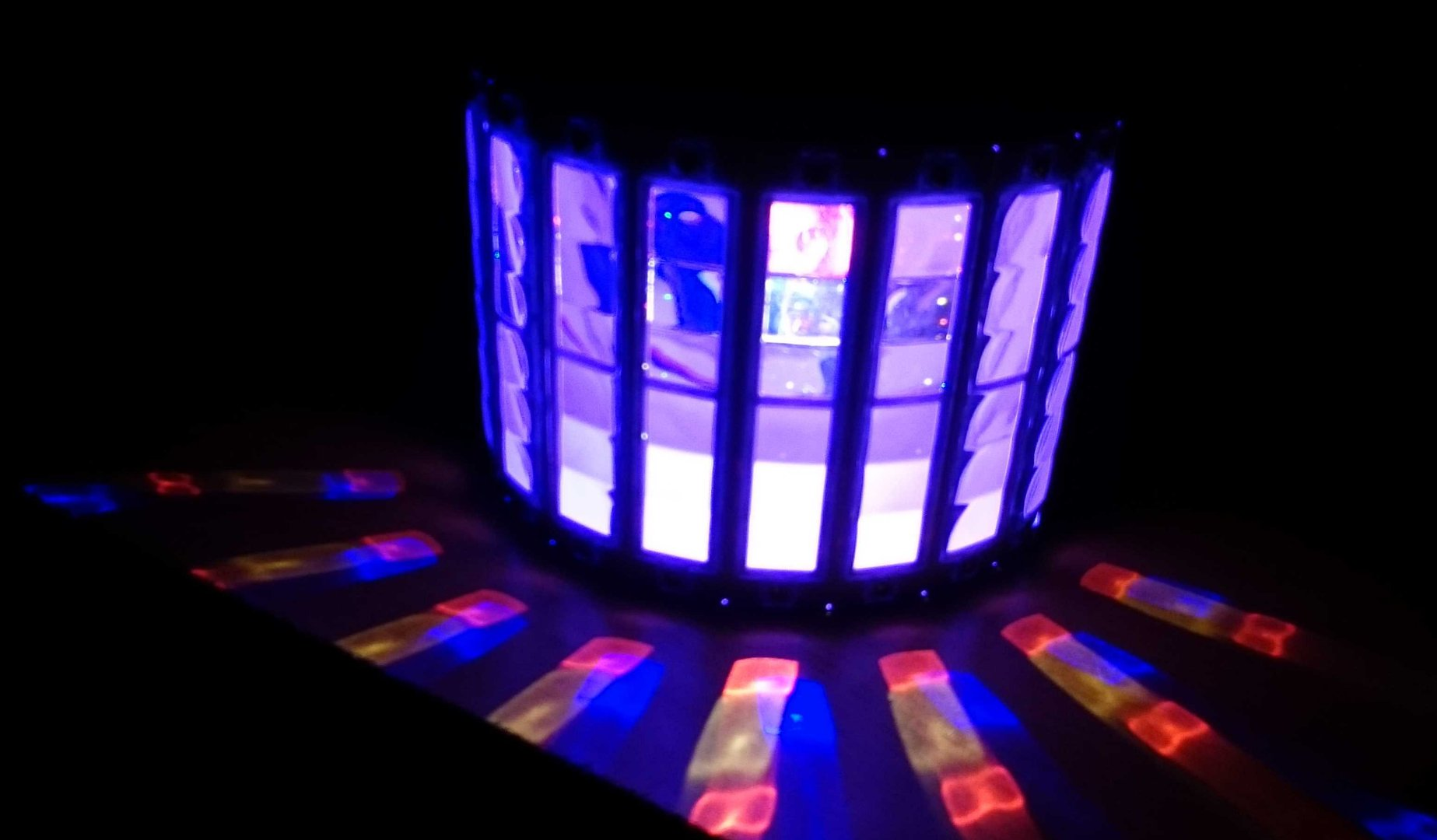 Led Licht 9 Farben Led Licht Show Lcd Dmx Galaxy Magic Led Licht Sound Acti