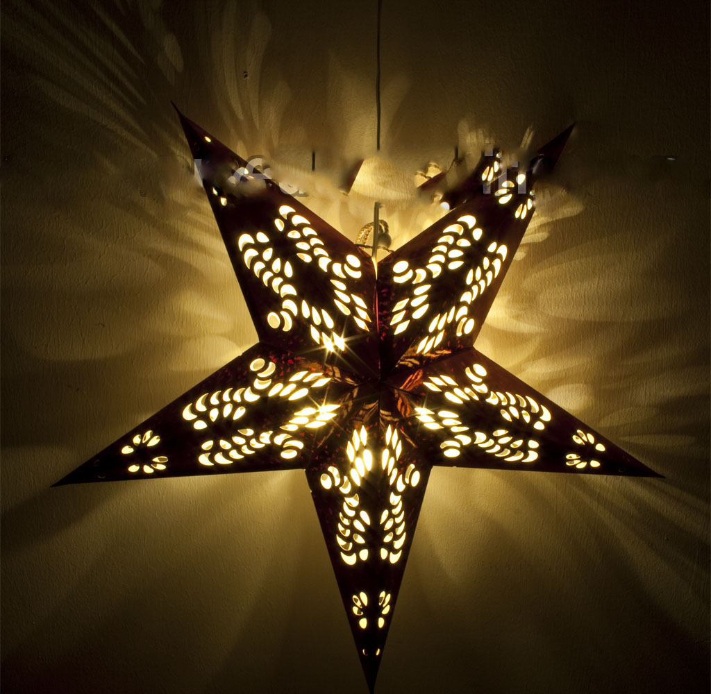 Led Weihnachts Stern Christmas Star Papier Stern 220 V