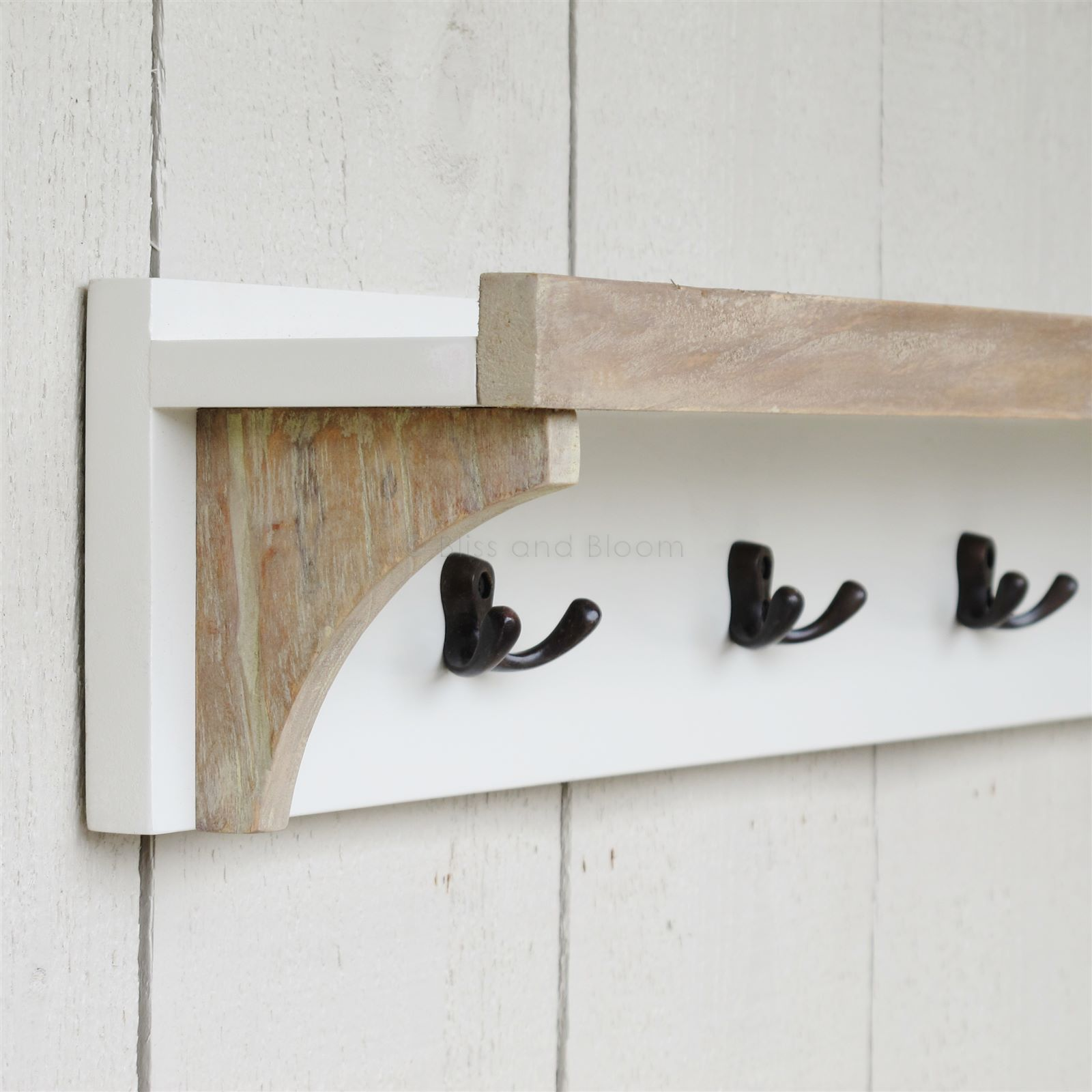 Coat Rack With Shelf Coat Rack With Shelf 5 Hooks Bliss And Bloom Ltd
