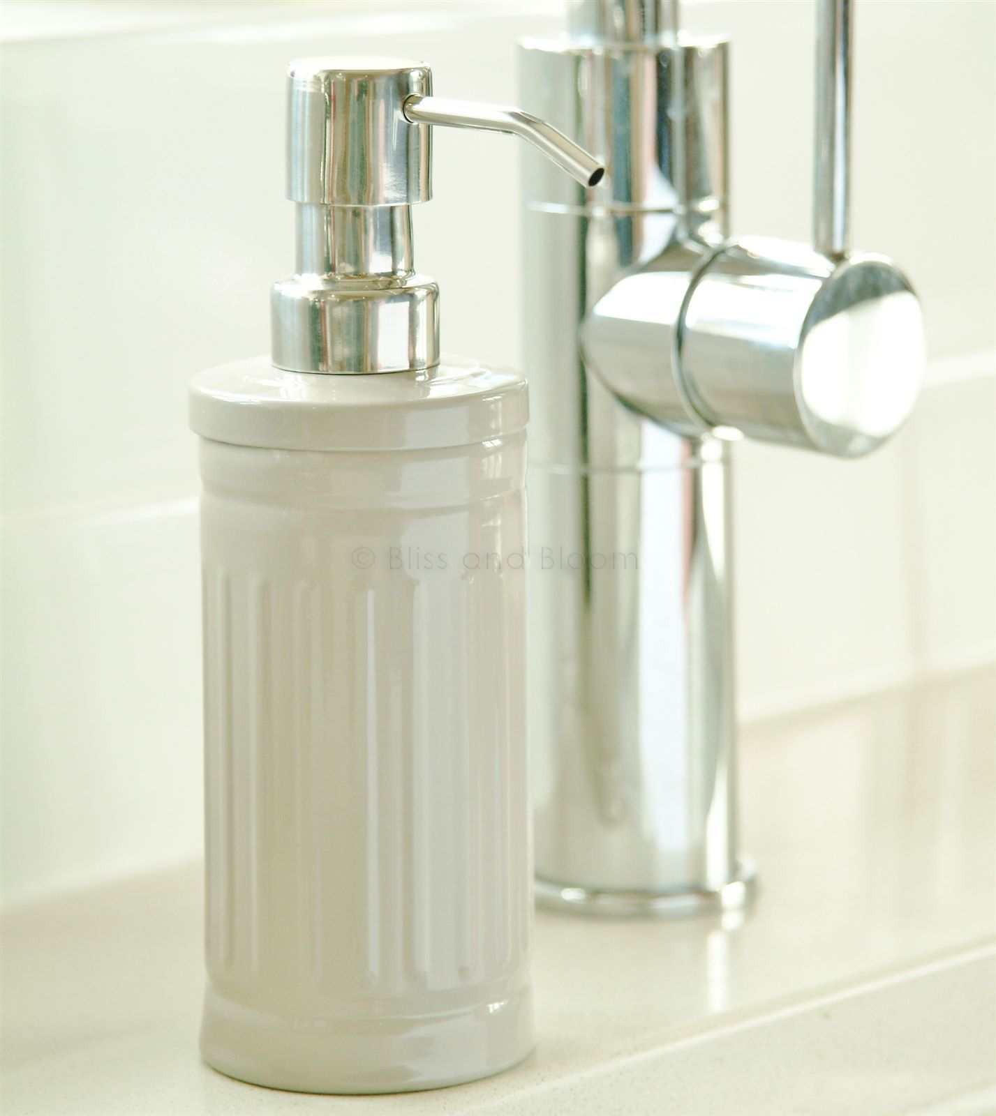 Stylish Soap Dispenser Soap Dispenser Taupe Bliss And Bloom Ltd