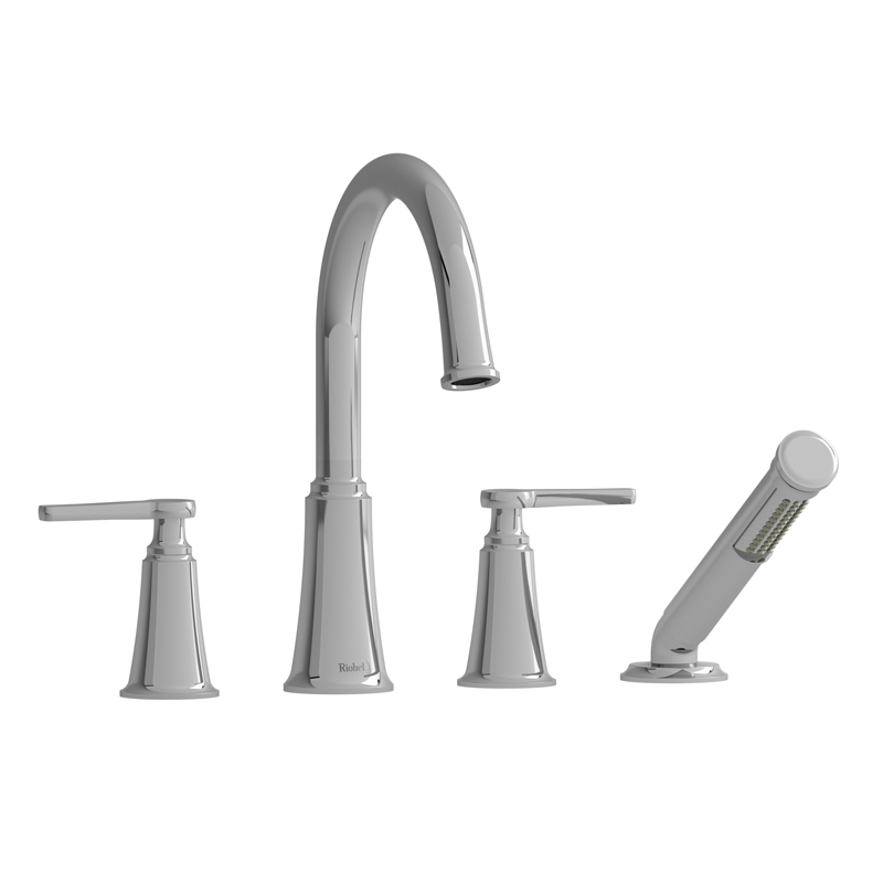 Riobel 4 Piece Deck Mount Tub Filler With Hand Shower Mmrd12jc Bliss Bath And Kitchen - Faucet Sale Toronto