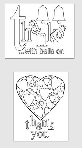 Easy Printables Thank You Card Templates Blissfully Domestic - printable thank you cards black and white